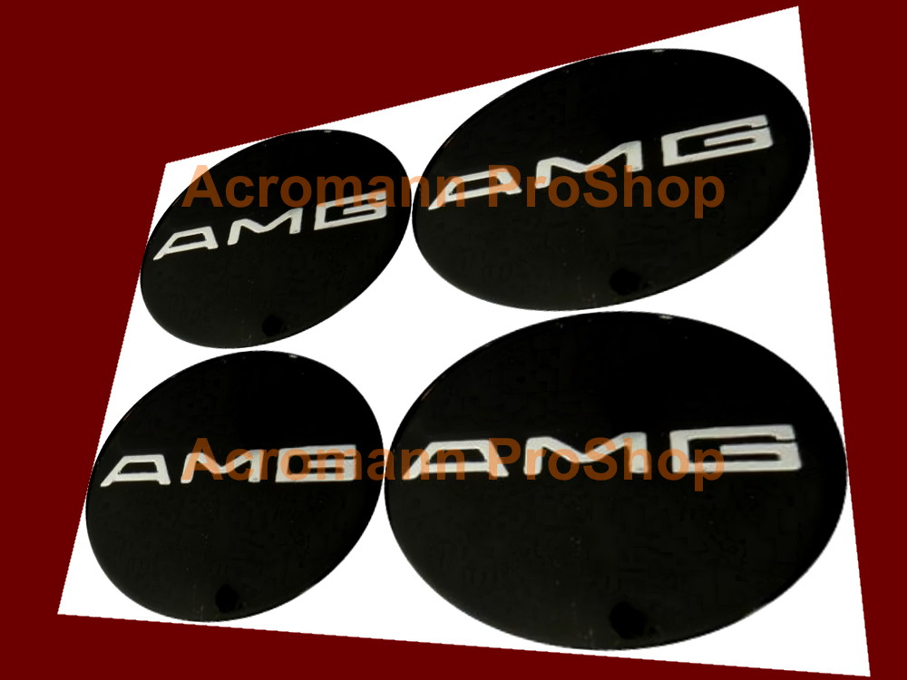 AMG Logo 2.2inch Wheels Rim Center Hub Caps Decals Sticker #2 x4